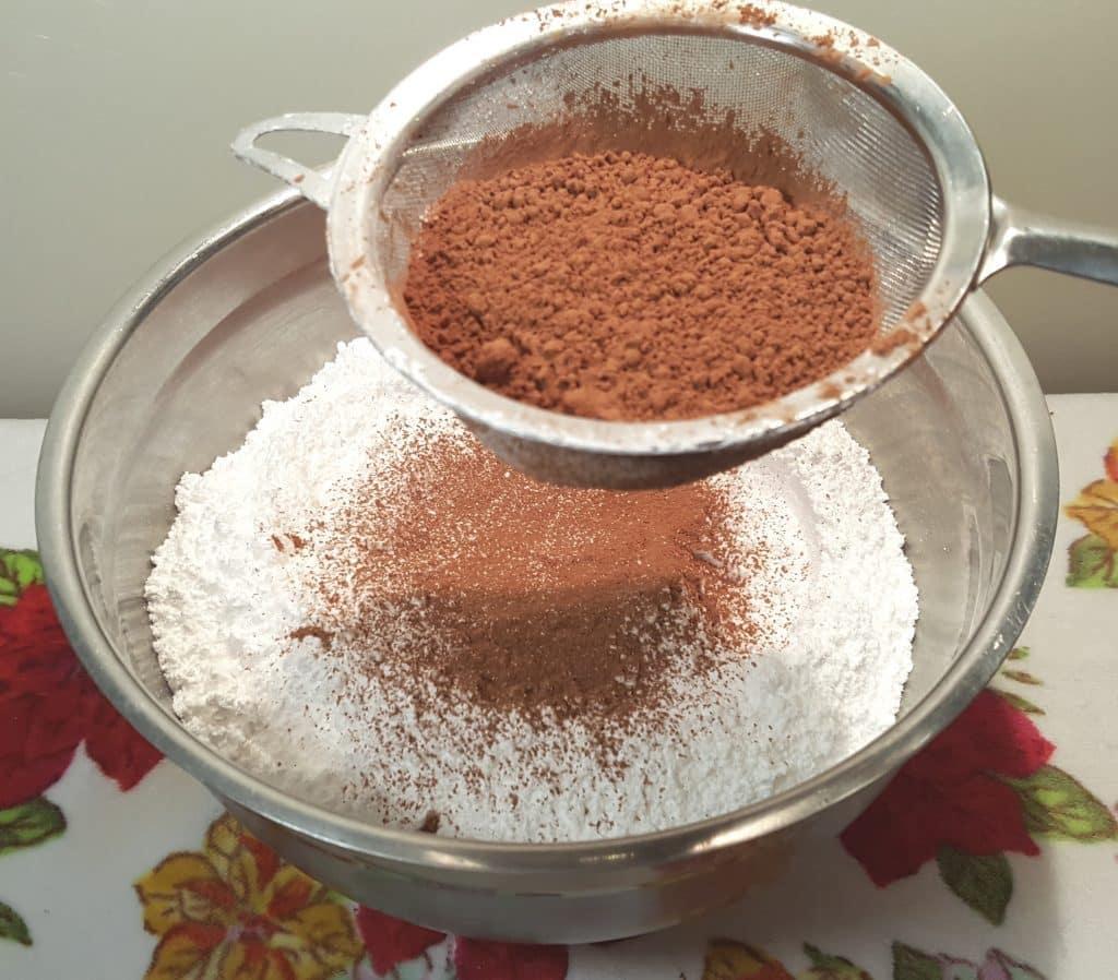 Alternate Sifting Cocoa Powder