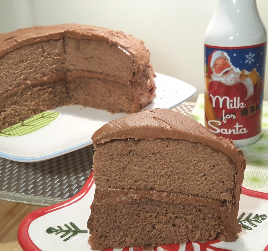 Choco Spice Layer Cake w/Mocha Frosting
