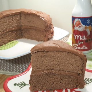 Choco-Spice Layer Cake with Mocha Buttercream Frosting {Pressure Cooker & Oven Method}
