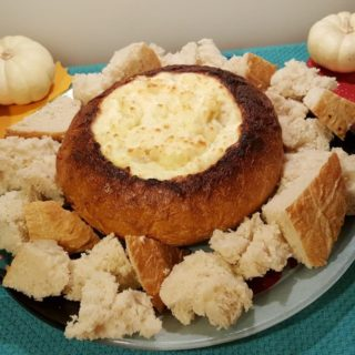 Hot Onion Cheese Dip Bread Bowl {Appetizer}