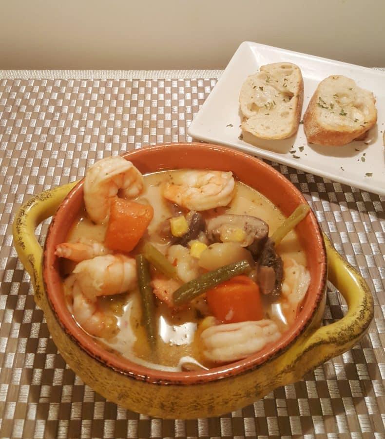 Pressure Cooker Seafood Corn Chowder
