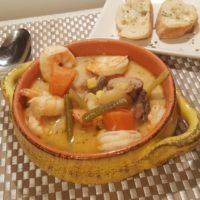 Pressure Cooker Seafood Corn Chowder (Gumbo)