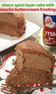 Choco-Spice Layer Cake w/Mocha Buttercream Frosting