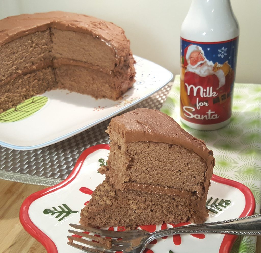 Choco-Spice Layer Cake with Mocha Frosting