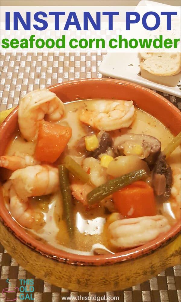 Instant Pot Seafood Corn Chowder