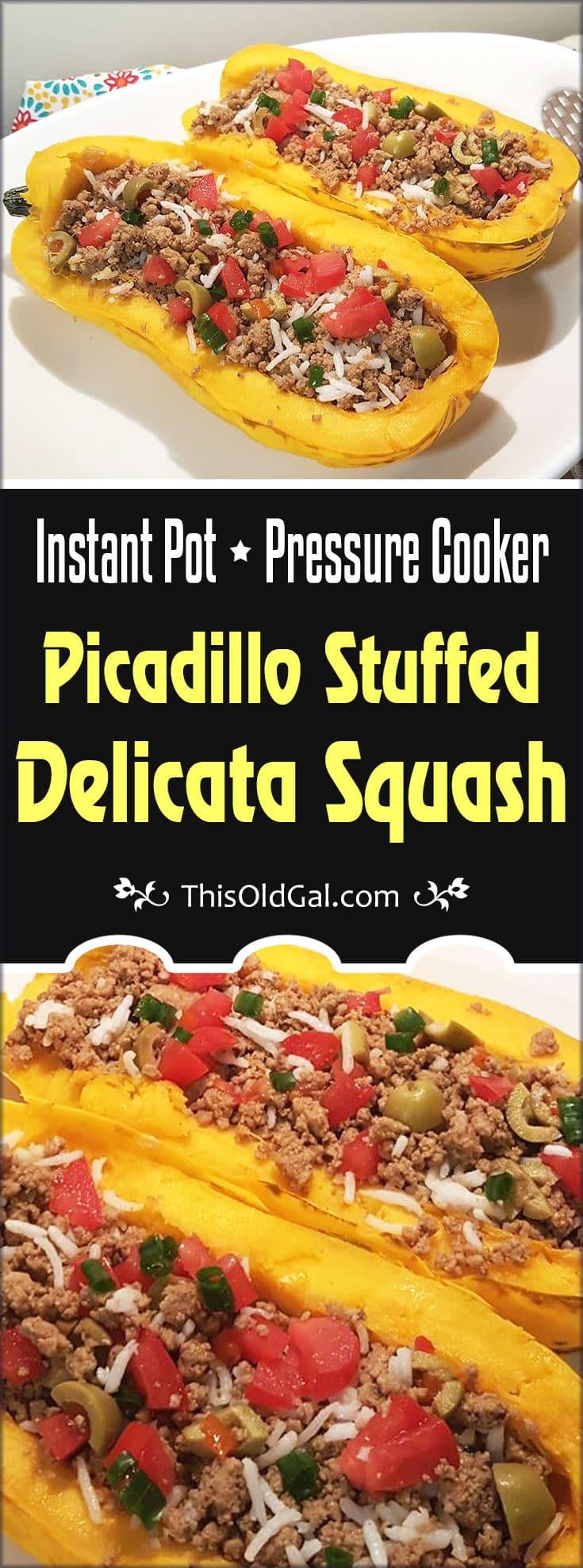 Pressure Cooker Picadillo Stuffed Delicata Squash