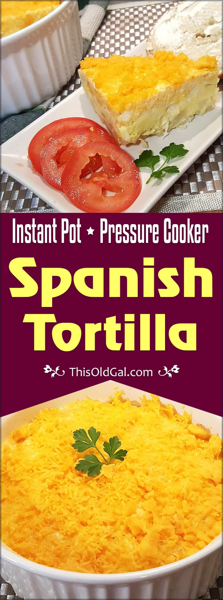 Pressure Cooker Spanish Tortilla (Potato Egg Frittata)