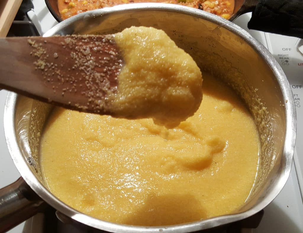 Mix until Polenta is Creamy