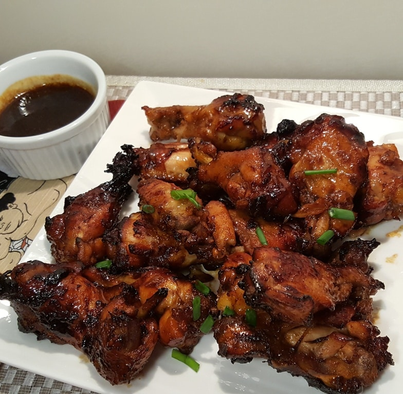 Pressure Cooker Honey Bourbon Chicken Wings, Legs, Thighs