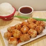 Air Fryer Chinese Take Out Sweet 'N Sour Pork with Rice
