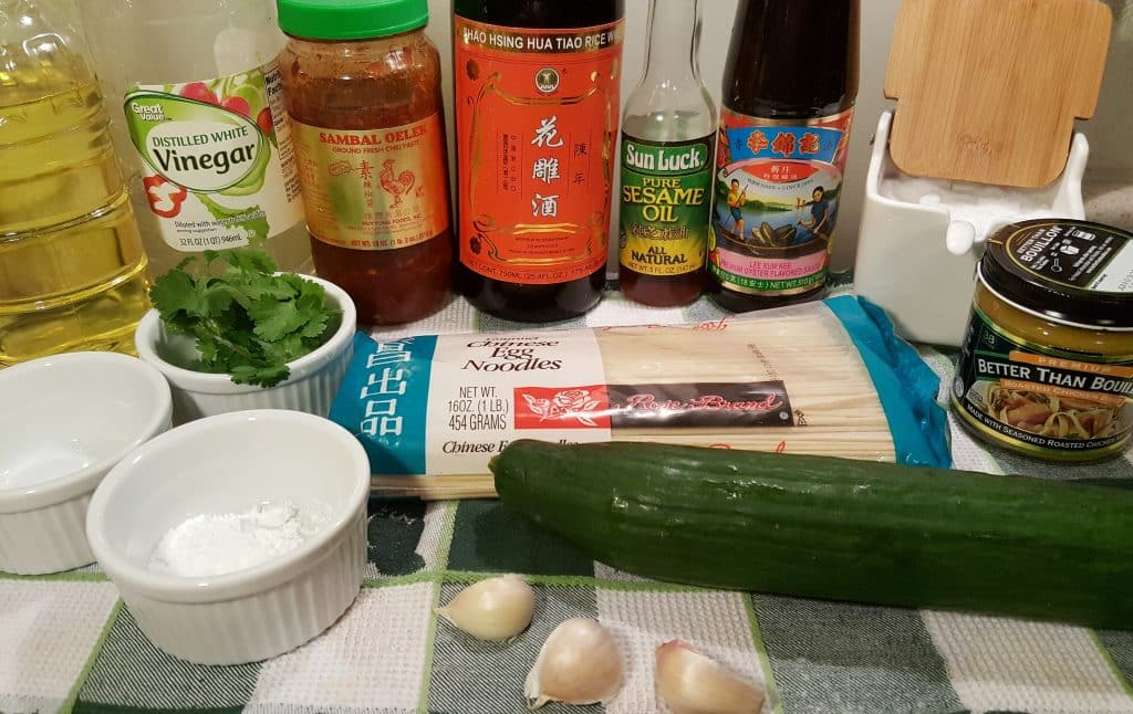 Cast of Ingredients for Instant Pot P.F. Chang's Garlic Noodles