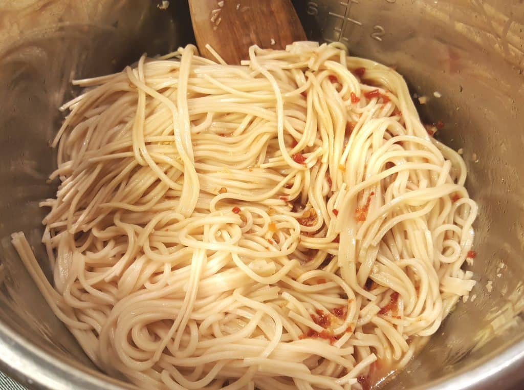 Pour the Sauce Over the Chinese Egg Noodles