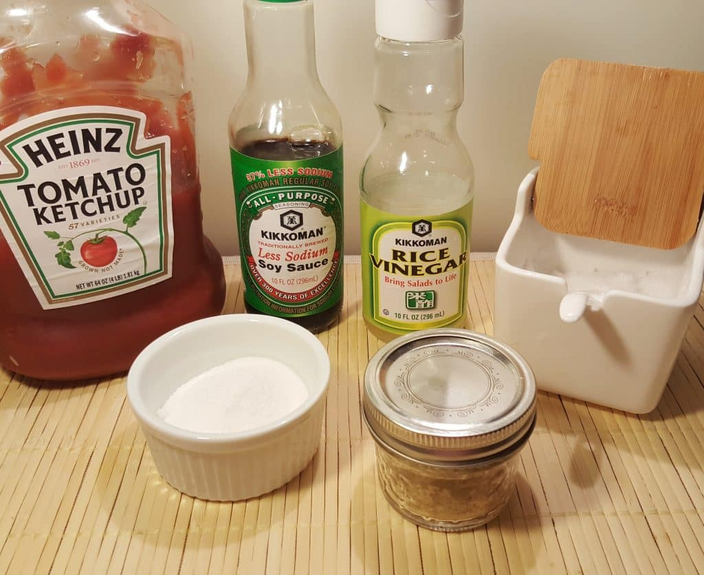 Cast of Ingredients for Simple Sweet 'N Sour Sauce Recipe