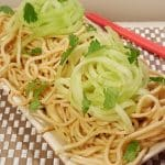 Pressure Cooker P.F. Chang's Garlic Noodles with English Cucumber