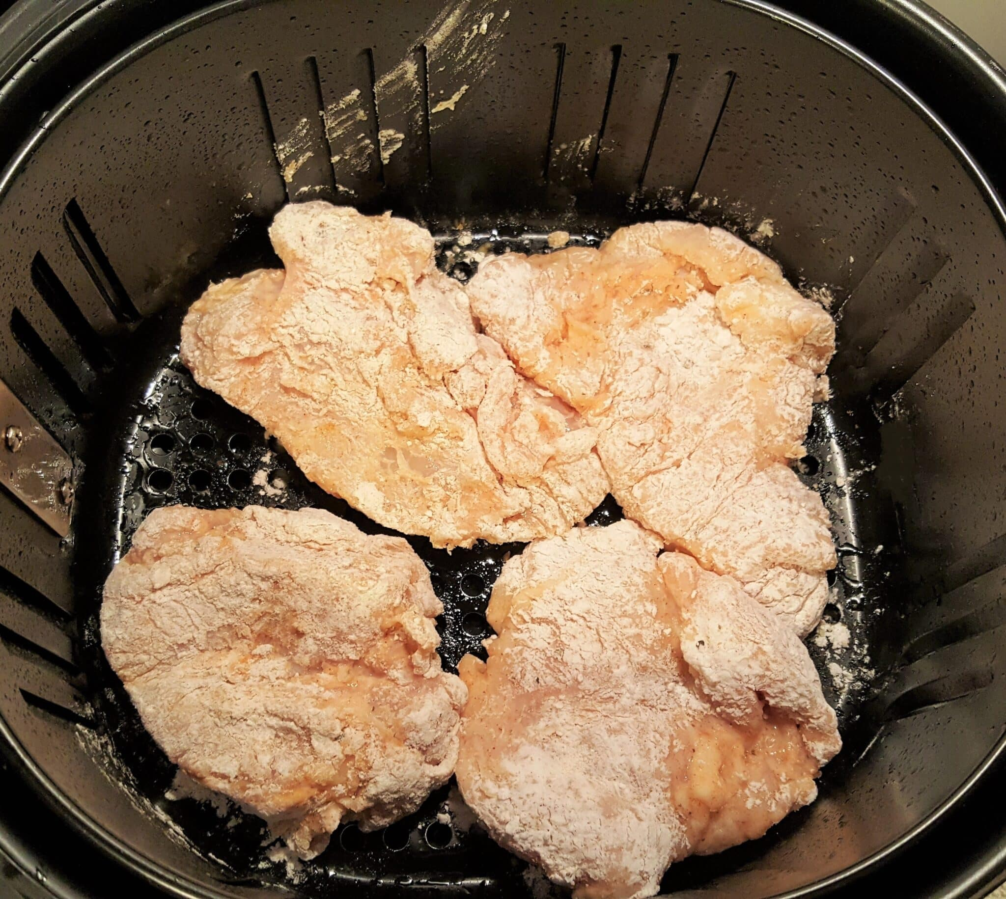 Generously Spray Chicken Breasts with Oil