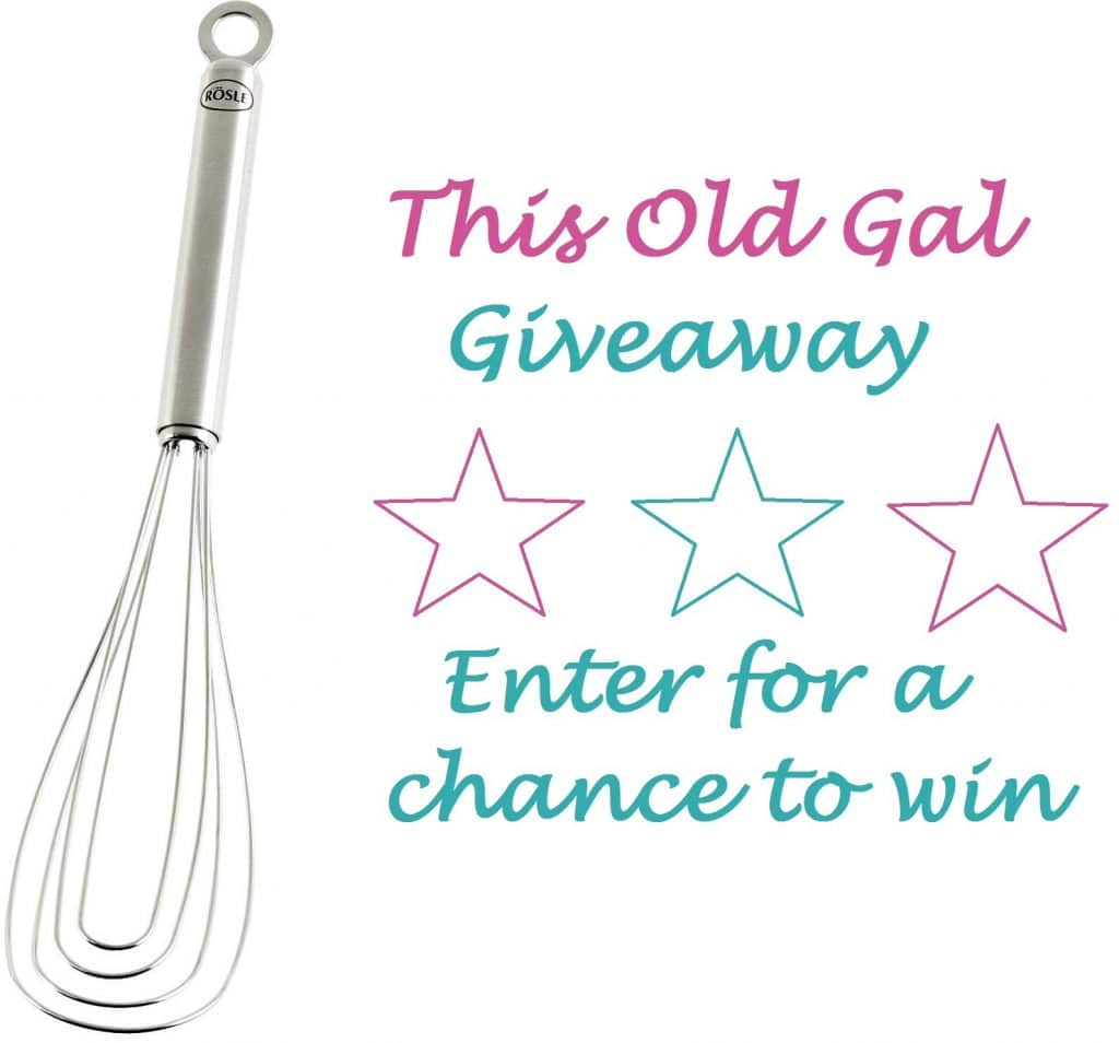 "Giveaway Rosle 10.5"" Flat Whisk"