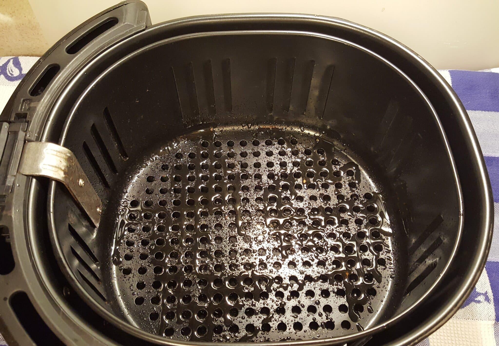 Prepare Air Fryer Basket for Chicken
