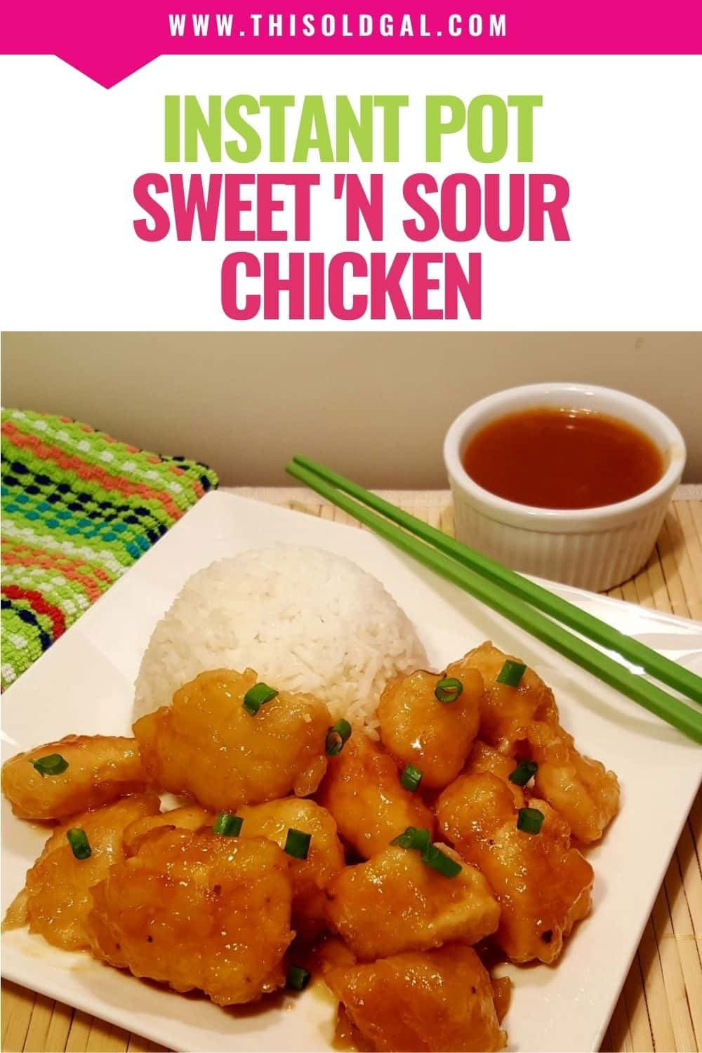 Pressure Cooker Chinese Take Out Sweet 'N Sour Chicken {Instant Pot}