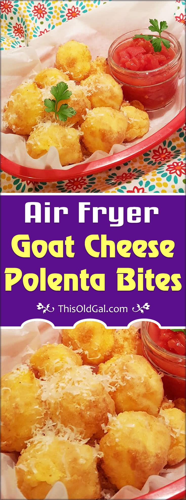 Air Fryer Goat Cheese Polenta Bites