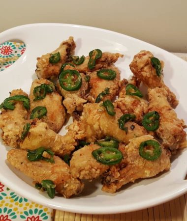 Air Fryer Chinese Salt & Pepper Chicken Wings