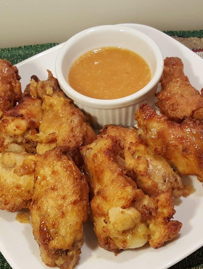 Air Fryer Hamburger Hamlet Fried Chicken Wings & Secret Apricot Sauce