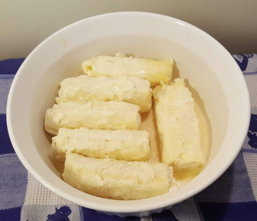 Add Blintzes to Melted Butter and Coat