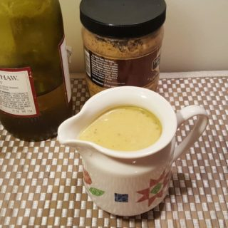 Homemade White Wine Brandy Mustard Sauce