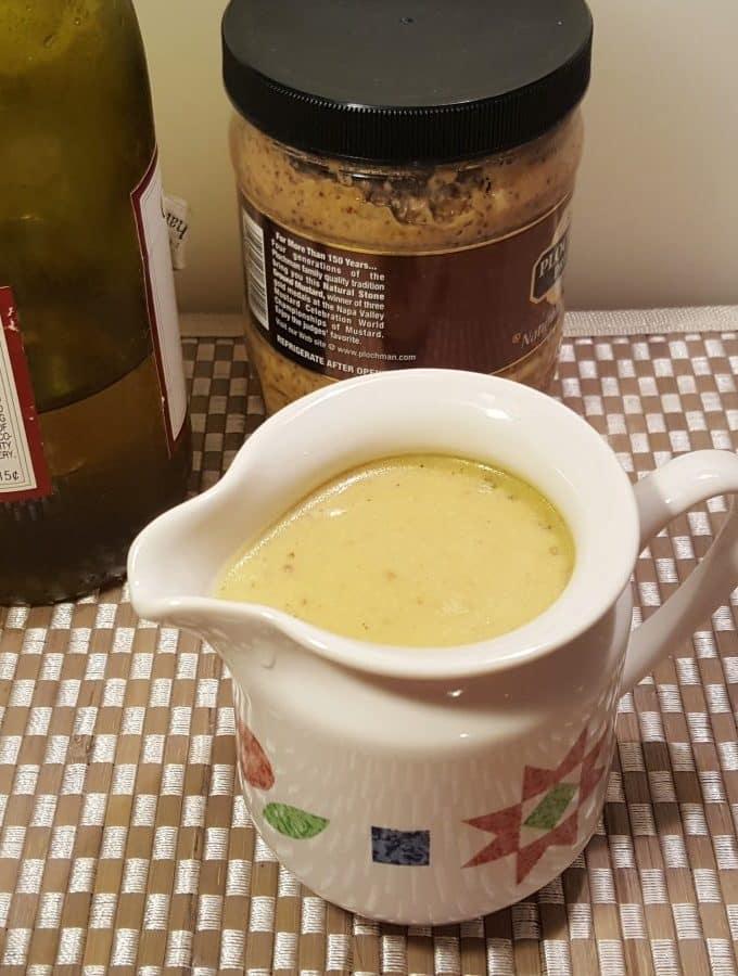 White Wine Brandy Mustard Sauce