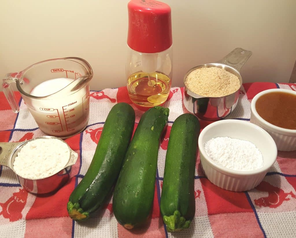 Cast of Ingredients for Air Fryer Hamburger Hamlet's Zucchini Zircles