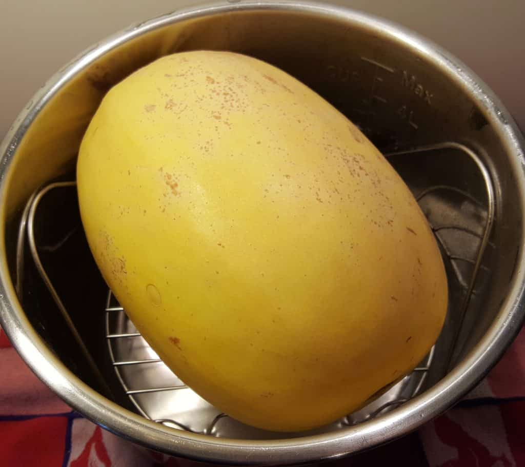 Place Spaghetti Squash on Trivet above Water