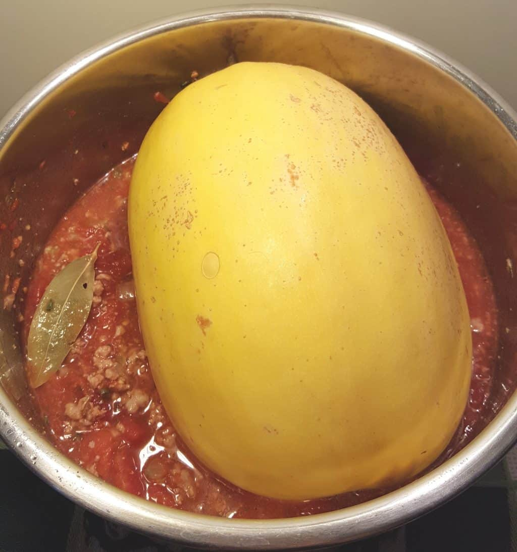 Put the Spaghetti Squash into the Pot