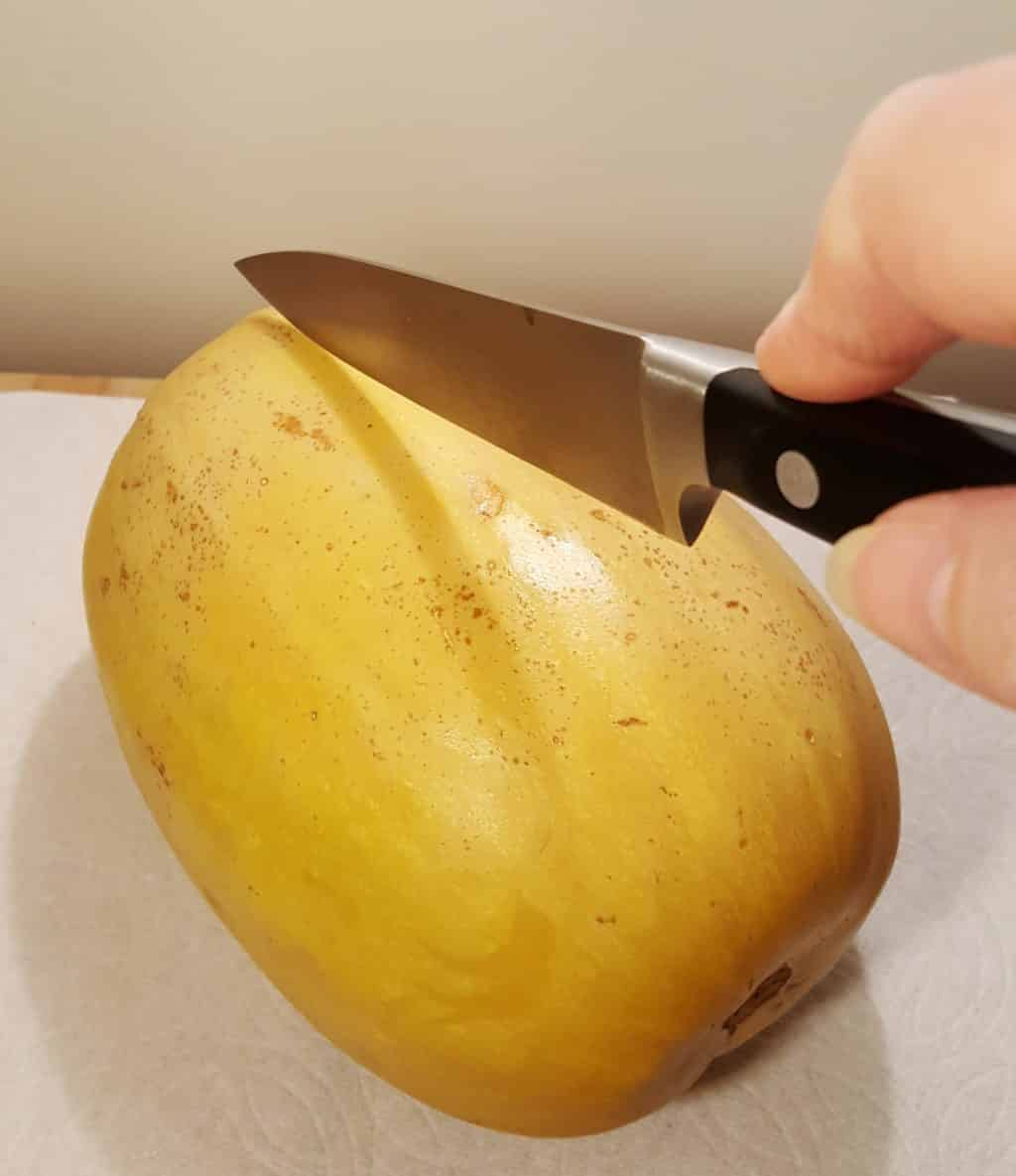 Cut Lengthwise with a Sharp Knife
