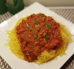 Instant Pot Spaghetti Squash and Meat Sauce