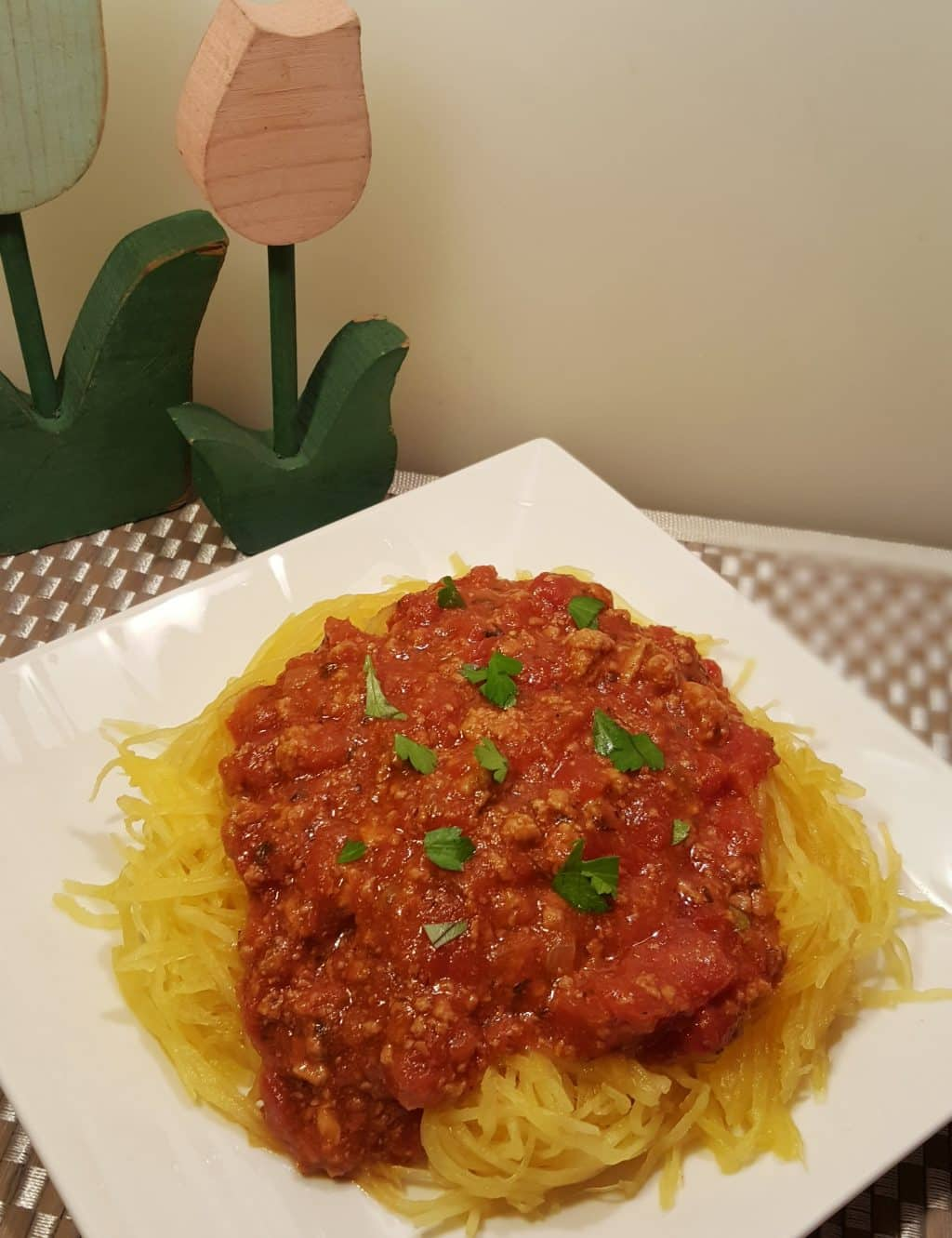 Instant Pot Pressure Cooker Spaghetti Squash and Meat Sauce Gluten Free