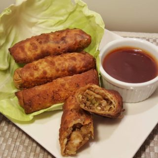 Air Fryer New York Style Egg Rolls {Shrimp & Pork}