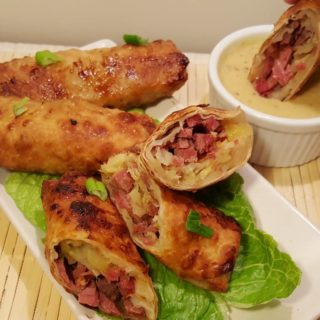 Air Fryer Pub Style Corned Beef Egg Rolls