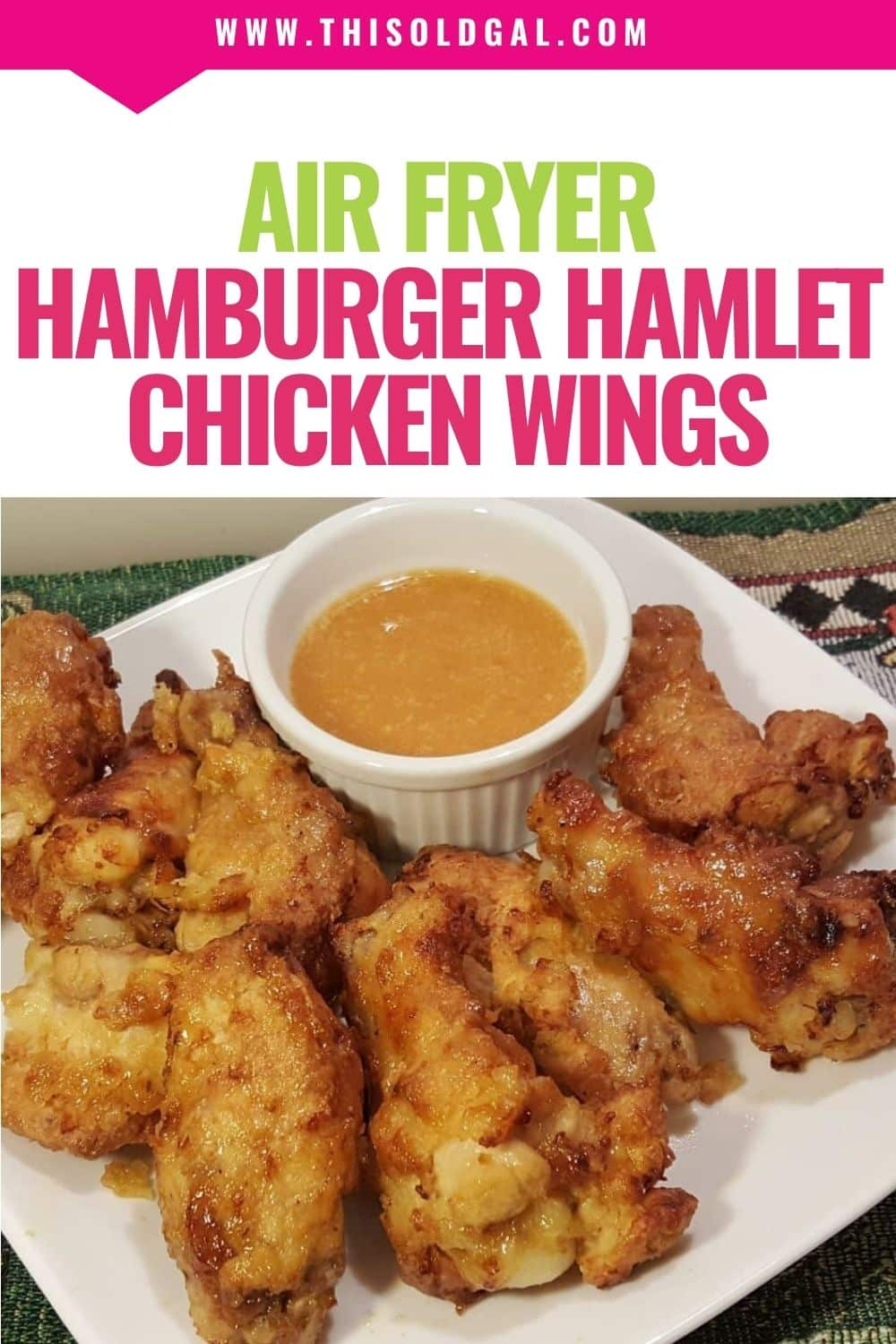 Air Fryer Hamburger Hamlet Fried Chicken Wings with Apricot Sauce