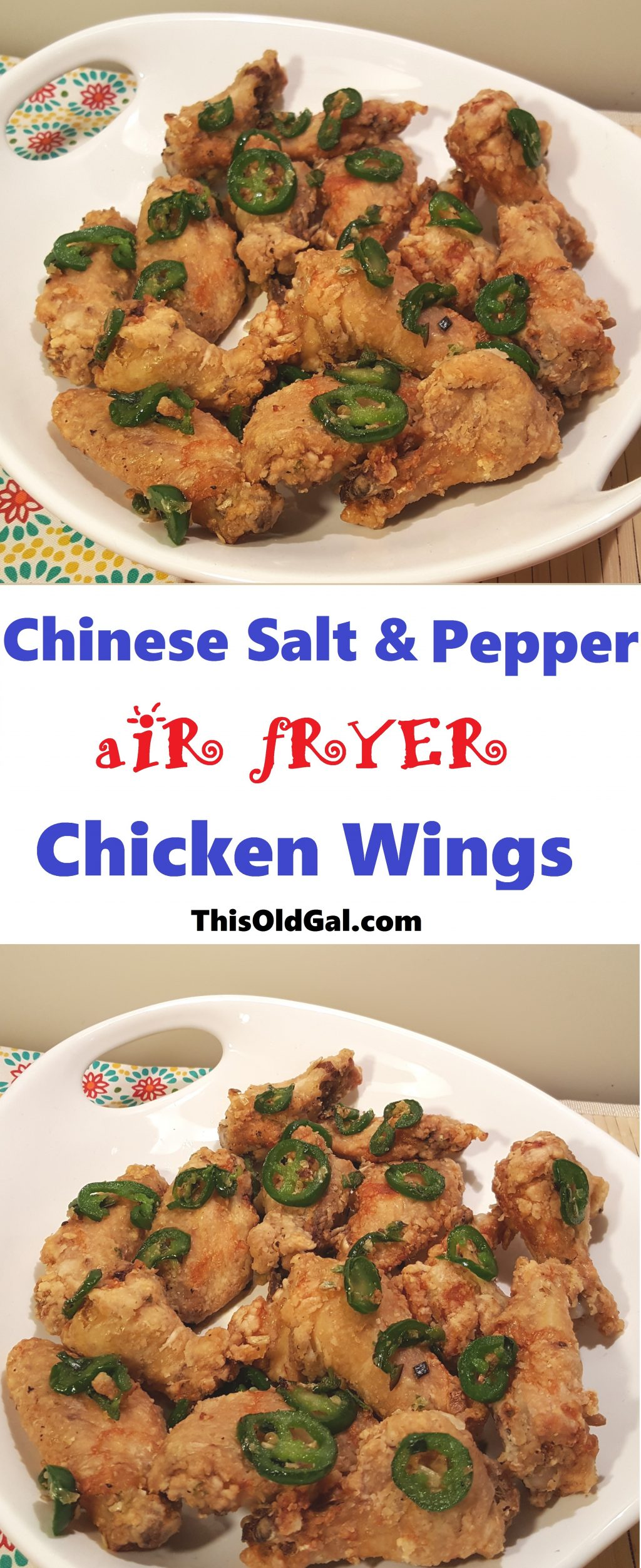 Air Fryer Chinese Salt Amp Pepper Chicken Wings This Old Gal
