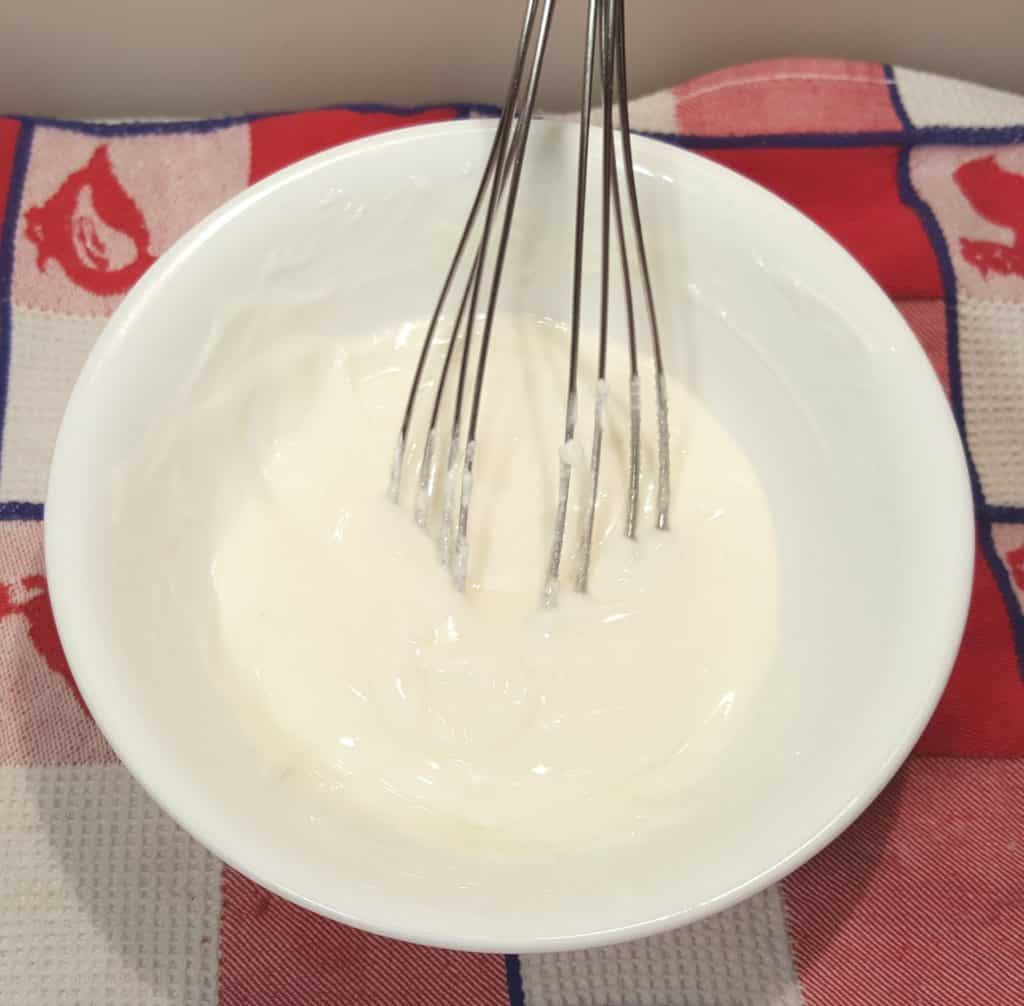 Combine Sugar and Gelatine and Whisk in HOT Milk