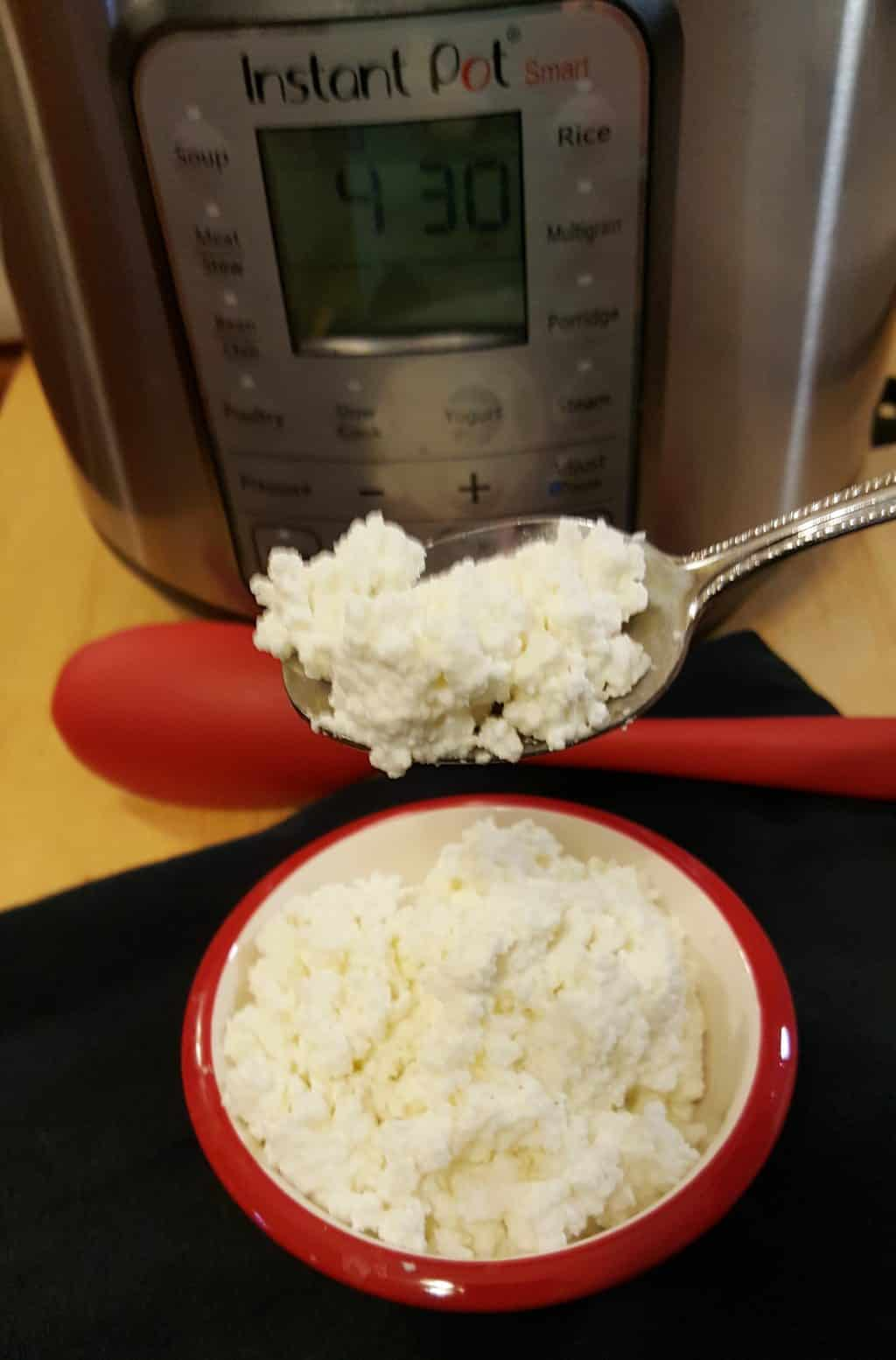 Beautiful Instant Pot Homemade Cottage Cheese Recipe