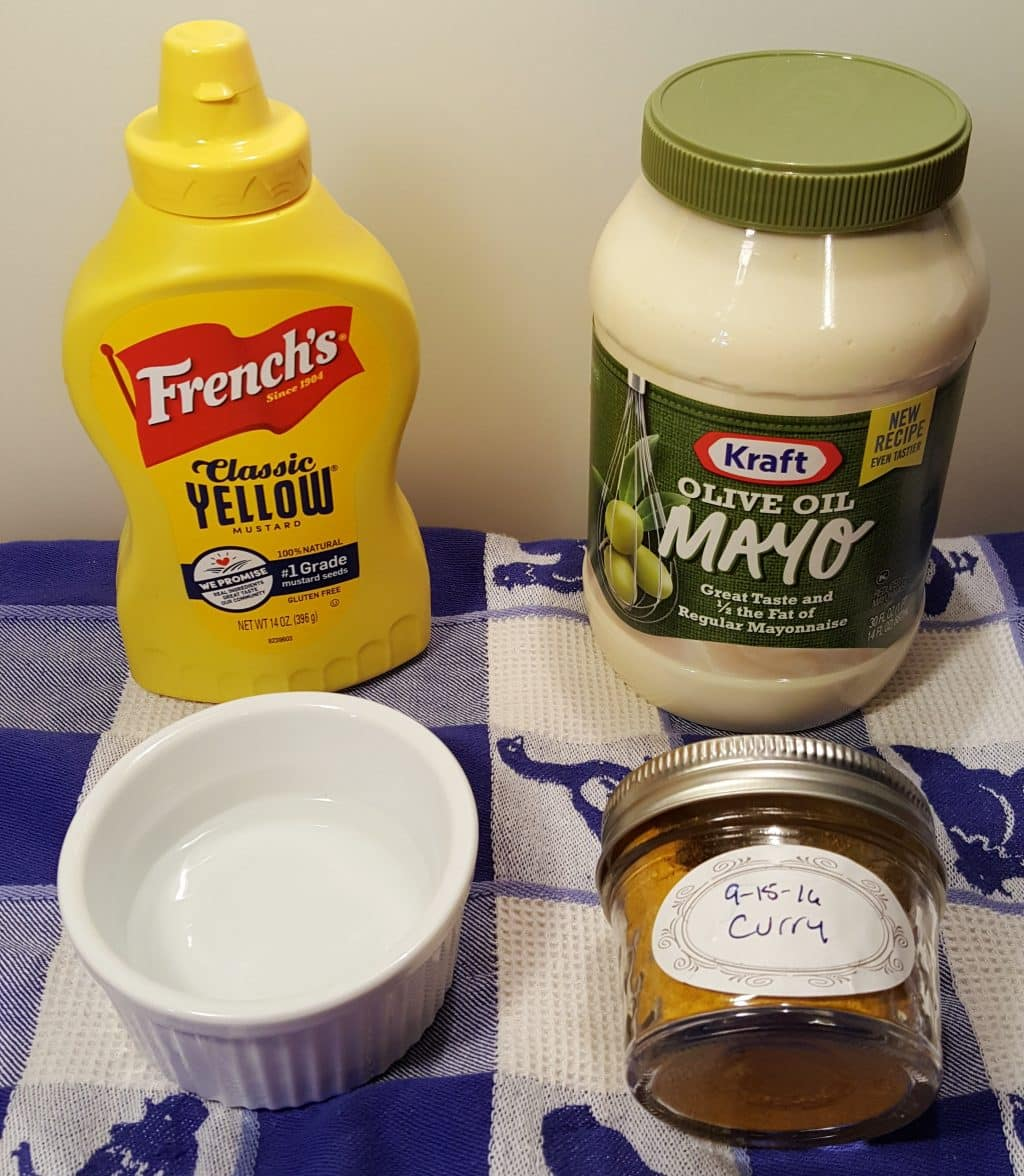 Cast of Ingredients for Pollo Tropical Creamy Curry Mustard Sauce