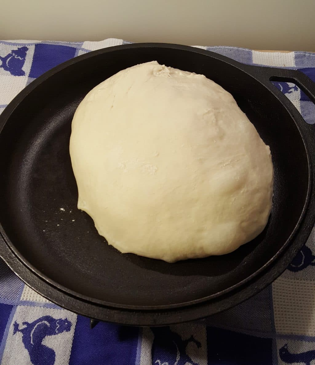 Place Dough in Hot Dutch Oven