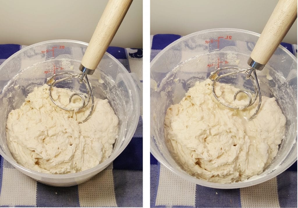Mix the Dough Until just Combined