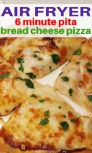 Air Fryer 6 Minute Pita Bread Cheese Pizza