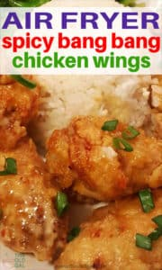 Air Fryer Spicy Bang Bang Chicken Wings
