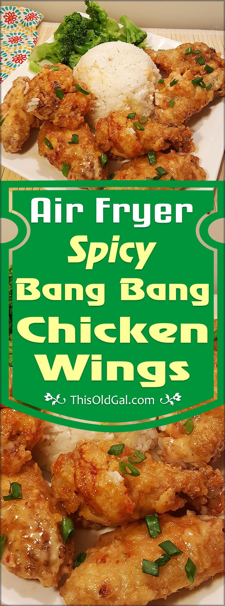 Air Fryer Spicy Bang Bang Chicken Wings