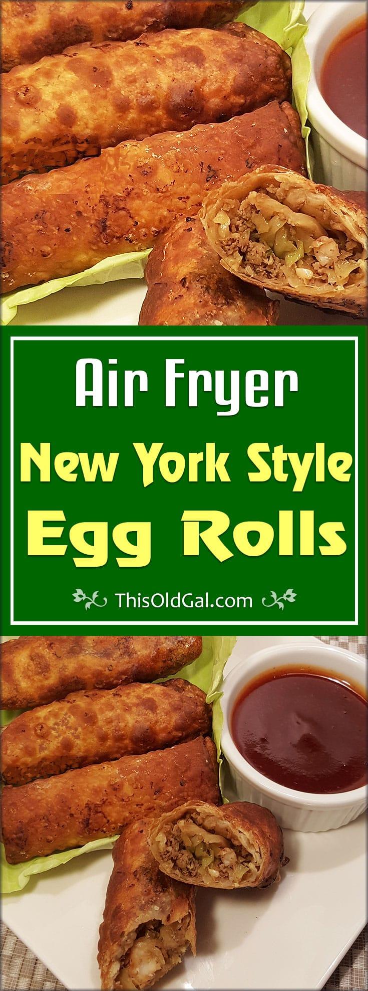 Air Fryer New York Style Egg Rolls (Shrimp & Pork)