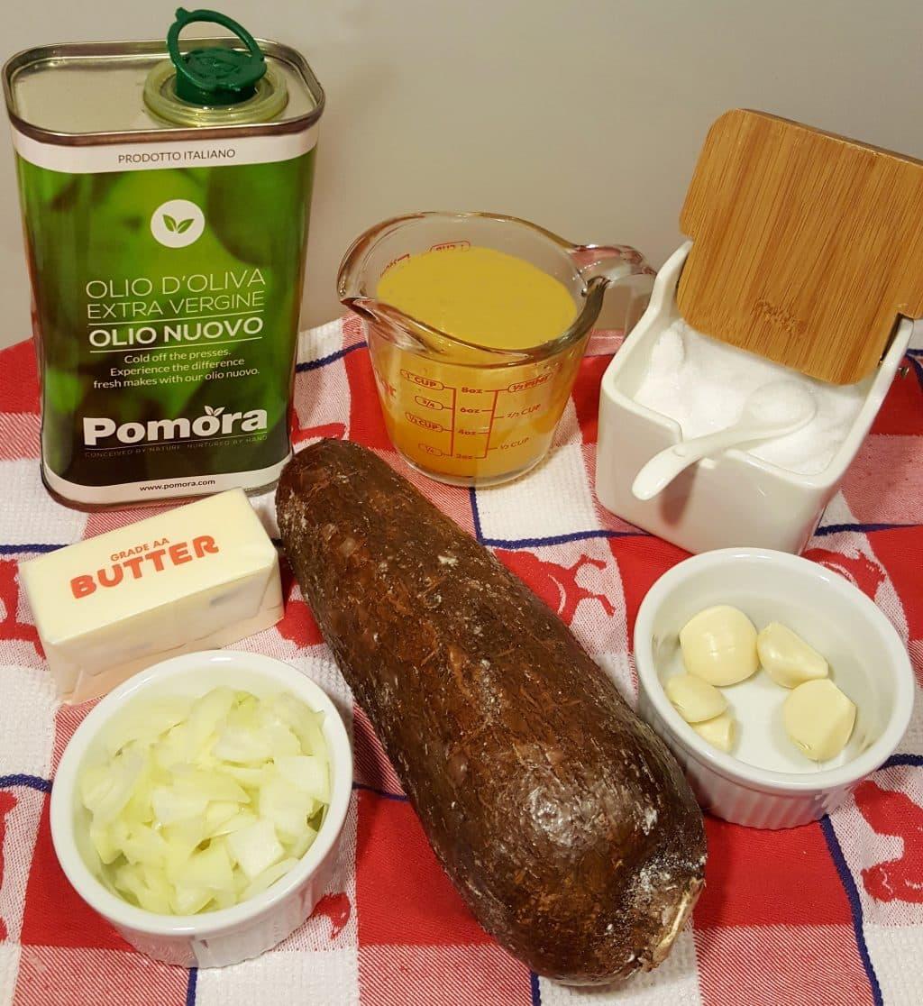 Pressure Cooker Cuban Yuca Con Mojo {Cassava w/Garlic Sauce]