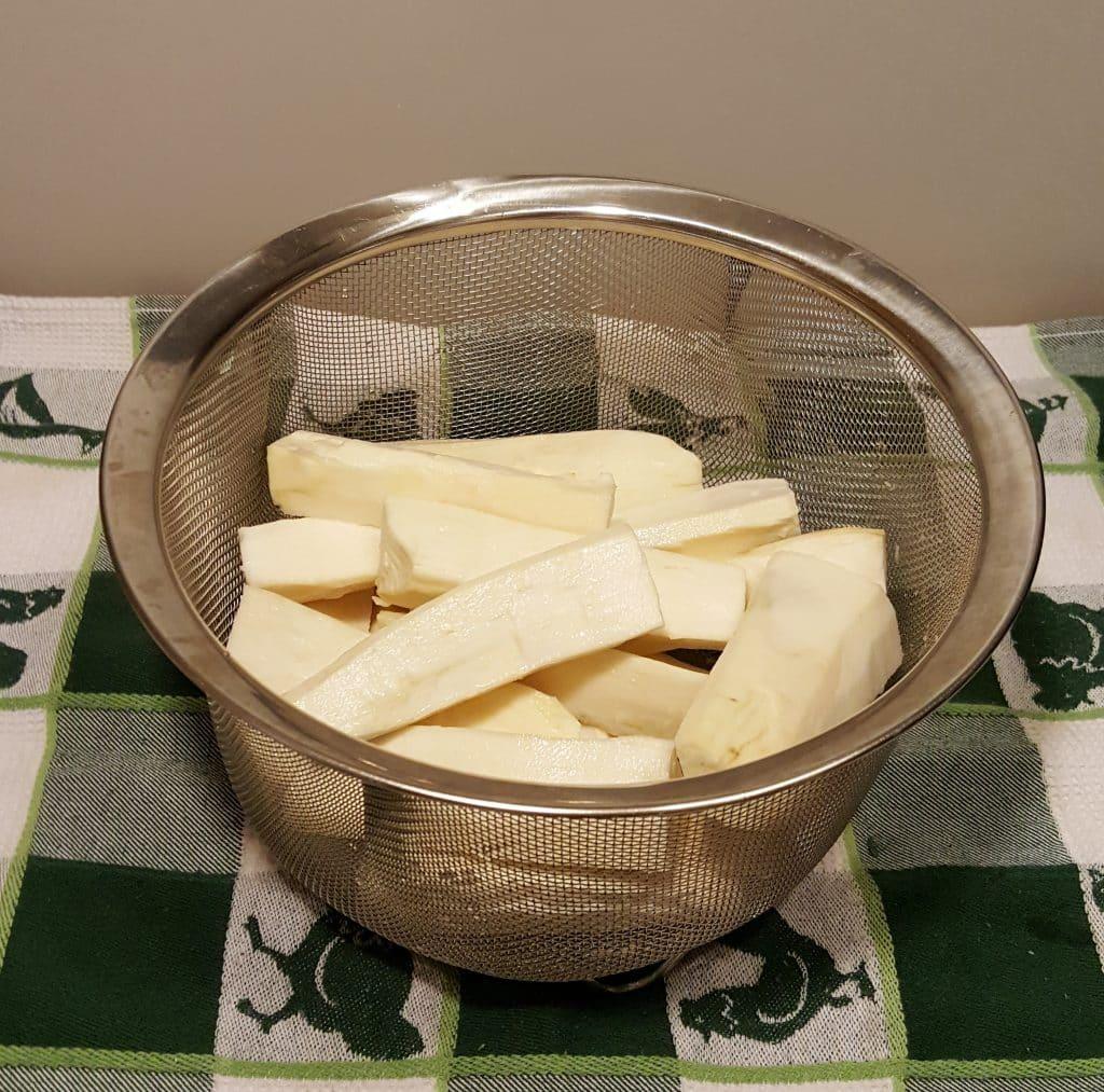 Add Yucca to a Steamer Basket