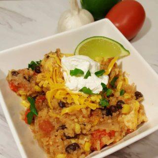 Mexican Pressure Cooker Chicken Taco Burrito Bowls